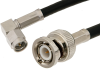 SMA Male Right Angle to BNC Male Cable 36 Inch Length Using PE-C195 Coax -- PE38093-36 -Image