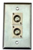 HAVE 1Gang Stainless Wallplate 2F Connector -- HAVWP1013F2