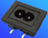 Power Inlets IEC 320-C8 -- AEL-JR-201SB