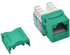 Cat6/Cat5e 110 Style Punch Down Keystone Jack - Green, TAA -- N238-001-GN - Image