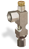 "(Formerly B1628-11-S01X00), Angle Small Sight Feed Valve, Solid Gasket, 1/4"" Female NPT Inlet, 1/4"" OD Tube Outlet, Handwheel -- B1628-135B2HW -- View Larger Image"