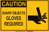 Brady Rectangle Yellow Personal Protection Equipment (PPE) Sign - TEXT: CAUTION - 46669 -- 754473-46669