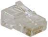 RJ45 Plugs for Solid / Stranded Conductor 4-pair Cat5e Cable, 10-Pack -- N030-010