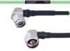 Temperature Conditioned Low Loss RA TNC Male to RA N Male Cable LL160 Coax in 30 Inch -- FMHR0218-30 -Image