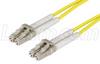 62.5/125, Multimode Fiber Cbl, Dual LC / Dual LC, Yellow 15m -- FODLC-YL-15 -Image