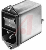 AC LINE FILTERS WITH ON/OFF SWITCH, 2 POLE, 4A MEDICAL -- 70080748 - Image