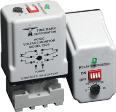 Designed to continuously monitor any AC or DC voltage from 15 to 260 volts.