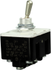 MICRO SWITCH Toggle Switches: TL Series Toggle Switch, 4 Pole Double Throw (4PDT) 3 Position (On - Off - On), Screw Terminals, Grounded Standard Lever -- 4TL153-1