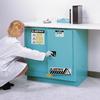 Blue Steel Undercounter Cabinet, -- 4724