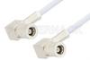 SMB Plug Right Angle to SMB Plug Right Angle Cable 12 Inch Length Using RG188 Coax, RoHS -- PE3589LF-12 -Image