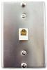 4C Steel Wall Phone Jack -- 83-095 - Image