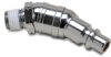 Swivel Air Fitting: steel, 3/8in industrial I/C plug & 1/4in male NPT -- HSP38-14M-S - Image