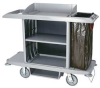 Housekeeping Cart W/Vinyl Bag,Platinum -- FG618900PLAT