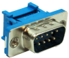 DB9 Male Connector IDC All Plastic Blue -- 24-418