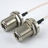 N Female Bulkhead to N Female Bulkhead Cable RG-316 Coax in 120 Inch -- FMC1111315-120 -Image
