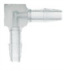 Barbed fitting, Elbow connector,Clear PP, 1/16
