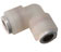 Push-to-connect Union Elbow, PVDF, 3/8