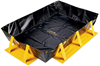 PIG Collapse-A-Tainer Spill Containment Berm 6' x 8' x 1', 4' W x 6' L x 1' H Sump Dimensions, 179 gal. Sump Capacity Portable & Collapsible Spill Co -- PAK791