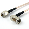 SMA Male (Plug) to RA SMA Male (Plug) Cable RG-316 Coax Up To 3 GHz in 36 Inch -- FMC0204316-36 -Image