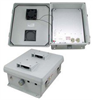 12x10x5 Inch 120 VAC Weatherproof Enclosure with Heater and 85° Turn-on Cooling Fan -- NB121005-1HF-1 -Image