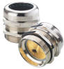 Nickel-Plated Brass Strain Relief for EMC Applications with NPT & Metric Thread -- SKINTOP® MS- NPT BRUSH/MS-M BRUSH