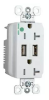 Combination Switch/Receptacle -- TR-8300HUSBW -- View Larger Image
