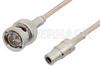 75 Ohm Mini SMB Plug to 75 Ohm BNC Male Cable 24 Inch Length Using 75 Ohm RG179 Coax -- PE34703-24 -Image