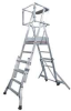 Platform Ladder,Telescopic,8-11Ft -- 4HXA2