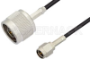SMA Male to N Male Cable 48 Inch Length Using PE-C100-LSZH Coax -- PE38433-48 -Image