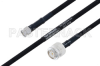 MIL-DTL-17 SMA Male to TNC Male Cable 12 Inch Length Using M17/84-RG223 Coax -- PE3M0054-12 -Image