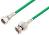 75 Ohm SMC Plug to 75 Ohm BNC Male Cable 48 Inch Length Using 75 Ohm PE-B159-GR Green Coax -- PE39260/GR-48 -Image