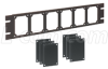 Universal Rack Panel Kit, Black Color w/6 Black Alum. Sub-Panels -- UPR-A-KIT