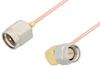 SMA Male to SMA Male Right Angle Cable 24 Inch Length Using PE-047SR Coax -- PE3230-24 -Image