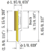 Louver Type Socket Pins, Acceptable plug: Dia. 0.60, 0.76mm/0.023