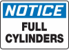 Notice Full Cylinders Sign -- SGN555 -Image