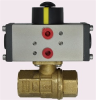 "BRASS AIR ACTUATED BALL VALVE, 3/8"" NPTF, DOUBLE ACTING -- B2CM03-0-0"