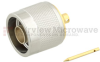 N Male Connector Solder Attachment For RG402, RG402 Tinned, .141 SR Cable -- SC9195 -Image