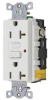 Receptacle,Commercial,20 Amp,White -- 15V858