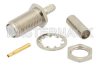 RT SMA Female Bulkhead Connector Crimp/Solder Attachment For RG174, RG316, RG188, .235 inch D Hole -- PE44196 -- View Larger Image
