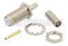RT SMA Female Bulkhead Connector Crimp/Solder Attachment For RG174, RG316, RG188, .235 inch D Hole -- PE44196 -Image