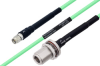 Temperature Conditioned SMA Male to N Female Bulkhead Low Loss Cable 72 Inch Length Using PE-P142LL Coax -- PE3M0133-72 -Image