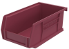 Akro-Mils Akrobin 10 lb Berry Industrial Grade Polymer Hanging / Stacking Storage Bin - 7 3/8 in Length - 4 1/8 in Width - 3 in Height - 1 Compartments - 30220 BERRY -- 30220 BERRY