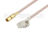 SMA Male Right Angle to SSMC Plug Cable 12 Inch Length Using RG316 Coax -- PE3C4407-12 -Image