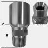 STAINLESS STEEL MALE PIPE, STAINLESS STEEL MALE PIPE SWIVEL -- SHF43-20-20MP
