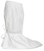 Dupont Safespec IC457S White Large Disposable Cleanroom Boot Cover - ISO Class 5 Rating - 18 in Height - Tyvek Isoclean Upper and PVC Sole - 15 1/4 in Sole Length - IC457SWHLG01000S -- IC457SWHLG01000S - Image