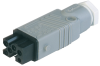 Rectangular Field Attachable Power Connector (ST Series): Female, straight with strain relief , 5-pin+PE, grey housing, 400 V AC/230 V DC, 10 A AC/6 A DC -- STAK 5 - Image