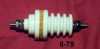 Porcelain Corrugated Feed-thru Insulator -- 6-79 - Image