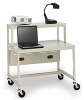 Computer Cart with Shelf -- EC15-PB
