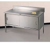 All-Welded Stainless Steel Cabinet-Style Worktables -- 5534900