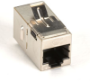 CAT5e Keystone Coupler, Straight-Pinned, Shielded, Silver, Single-Pack -- FM593